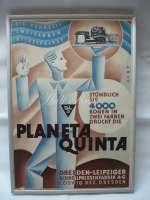 """Reclamă veche la tipografia """"Planeta Quinta"""""""