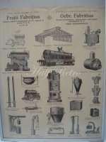 """Afiş vechi - reclama firmei """"Fraţii Fabriţius"""""""